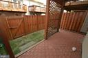 REAR PATIO & FENCED YARD - 6403 LURETA ANN LN, SPRINGFIELD