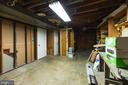 Additional unfinished space for storage - 7605 LAURALIN PL, SPRINGFIELD