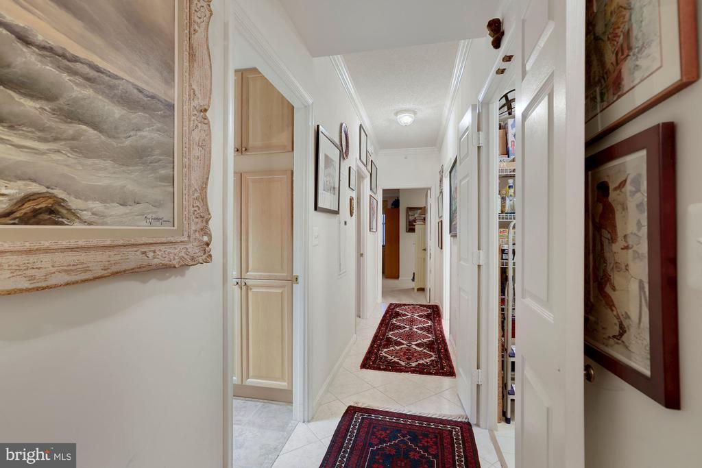 Hall to Bedrooms - 19360 MAGNOLIA GROVE SQ #305, LEESBURG