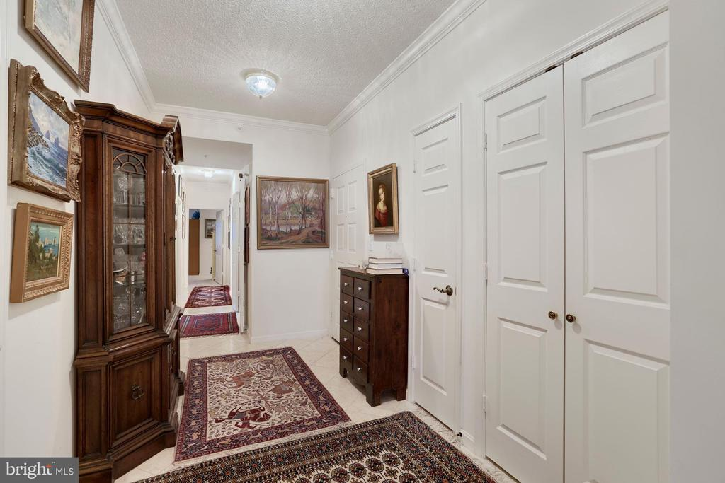 Foyer with large closet - 19360 MAGNOLIA GROVE SQ #305, LEESBURG