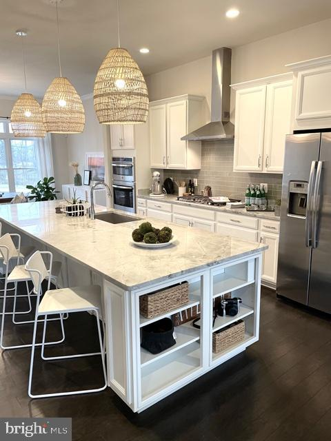 Breakfast Bar and Pendant Lights - 42502 MILDRED LANDING SQ, ASHBURN
