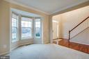 Formal sitting room with bay window. - 1002 JONS PL, FREDERICKSBURG