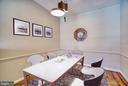 Virtually Staged Dining Room - 1712 LAKE SHORE CREST DR #33, RESTON