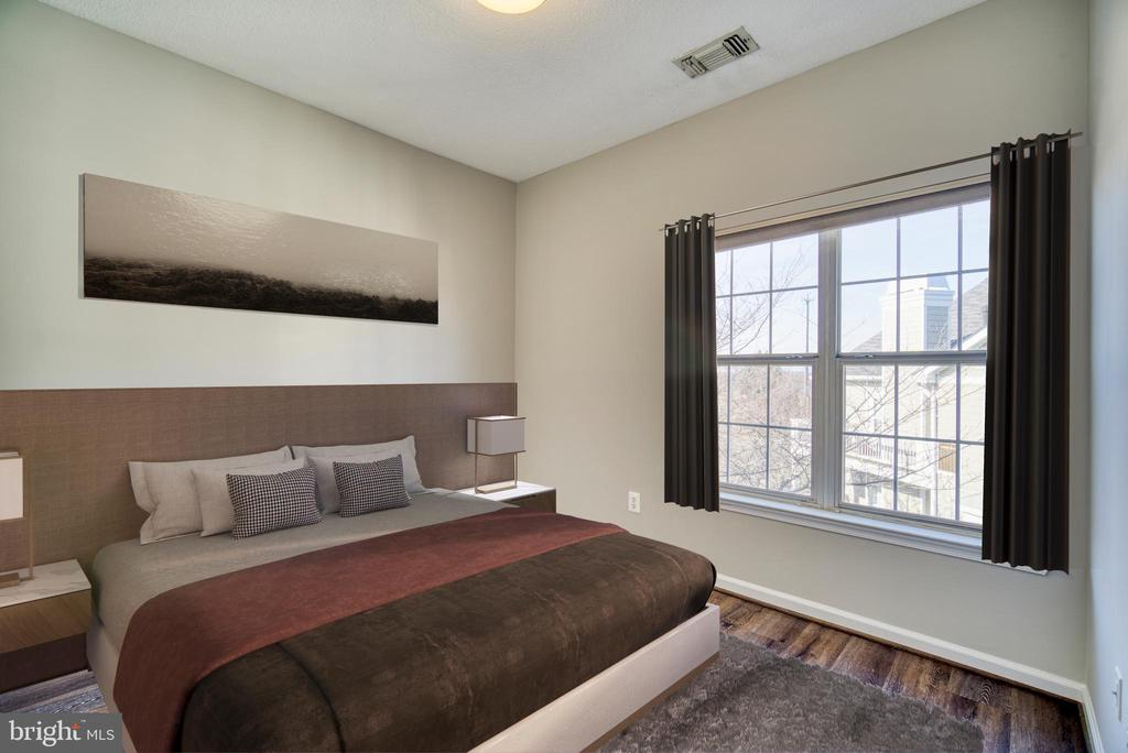 Virtually Stage 2nd Bedroom/Den - 1712 LAKE SHORE CREST DR #33, RESTON