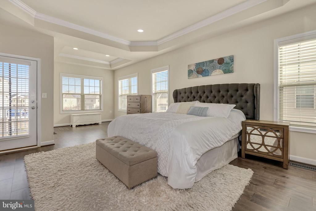 Enormous primary bedroom with private balcony - 42594 DREAMWEAVER DR, ASHBURN