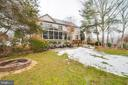 Nice view of backyard - 20277 DAWSON MILL PL, LEESBURG