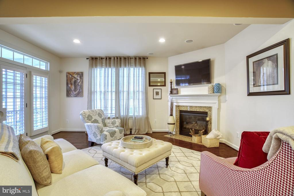 Family Room with Fireplace - 24955 EARLSFORD DRIVE, CHANTILLY
