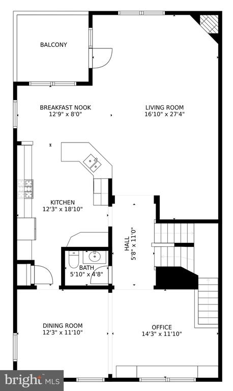 Main  Level Floorpan - 24955 EARLSFORD DRIVE, CHANTILLY