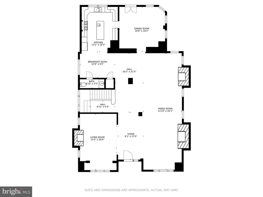 Floor Plan - Main Level - 2308 TRACY PL NW, WASHINGTON