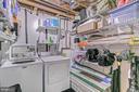 Lower level laundry room with storage - 2913-B S WOODSTOCK ST #2, ARLINGTON