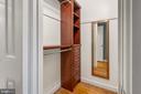 Walk-in closet with organizer - 2971 S COLUMBUS ST #A1, ARLINGTON