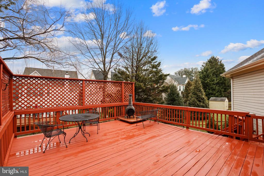 Enjoy the great outdoors from the deck! - 20757 PARKSIDE CIR, STERLING