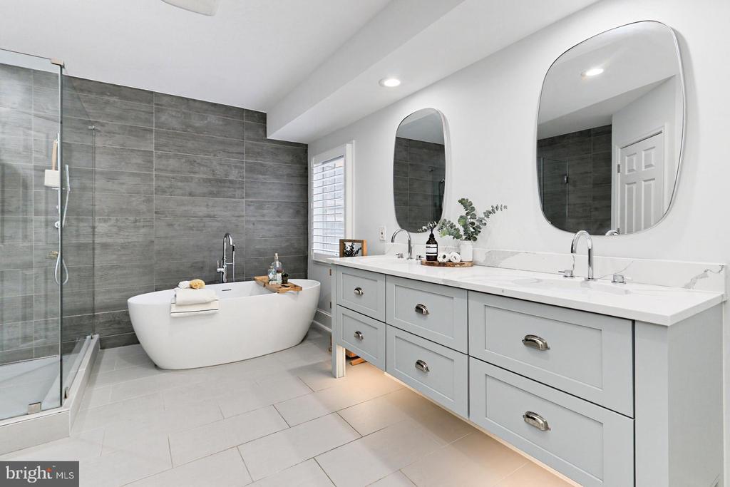 Master Bath including long  double vanity - 425 PARK AVE, FALLS CHURCH