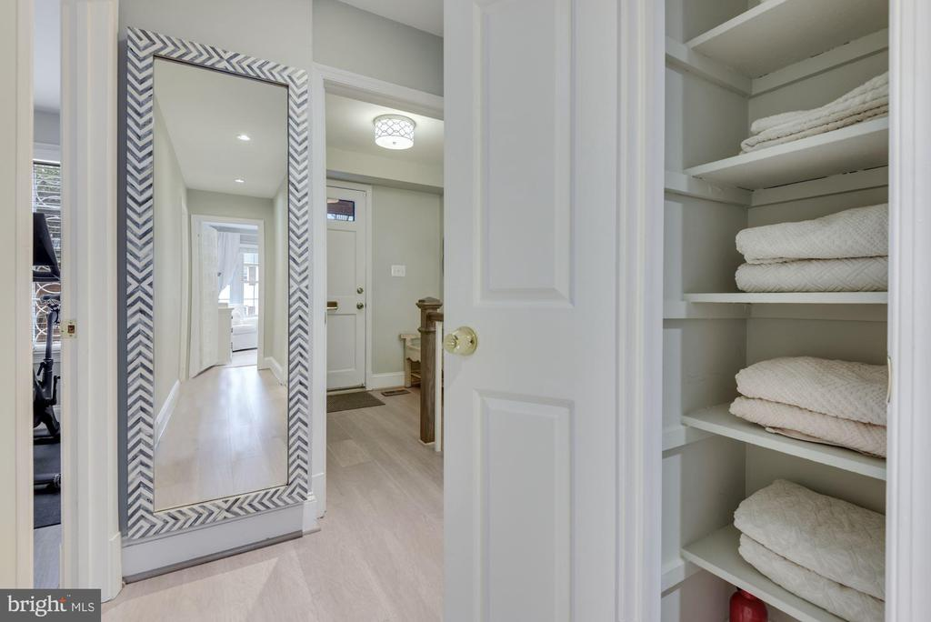 Linen Closet - Closets Abound in this Home! - 1610 BELMONT ST NW #D, WASHINGTON