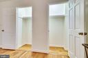 Main Level Primary Bedroom Double Closet - 3052 S ABINGDON ST #A2, ARLINGTON