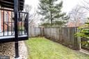 Exterior Fenced Yard w/Balcony - 3052 S ABINGDON ST #A2, ARLINGTON