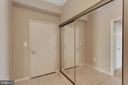 Foyer and spacious hall closet - 19365 CYPRESS RIDGE TER #1108, LEESBURG