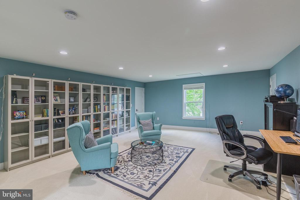 Rec room in lower level option - 8620 OX RD, FAIRFAX STATION