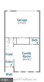 Entry level floorplan - 43111 CLARENDON SQ, ASHBURN