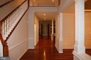Entry foyer, looking toward rear of house - 3705 GLEN EAGLES DR, SILVER SPRING