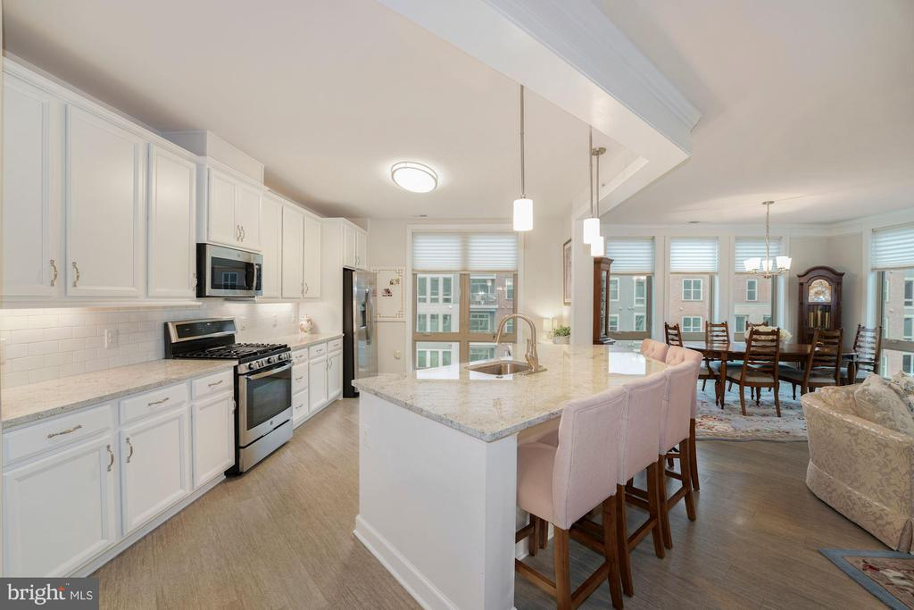 This Kitchen is a Chef's Dream!  MASSIVE & PRETTY! - 6107 FAIRVIEW FARM DR #403, ALEXANDRIA