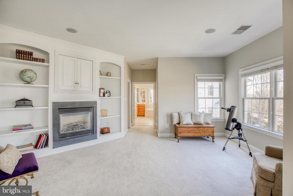 Tranquil sitting room with gas fireplace - 43094 ROCKY RIDGE CT, LEESBURG