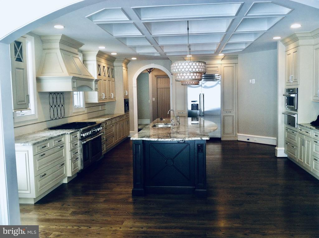 Stunning Coffered Ceiling in Kitchen. - 10603 VALE RD, OAKTON