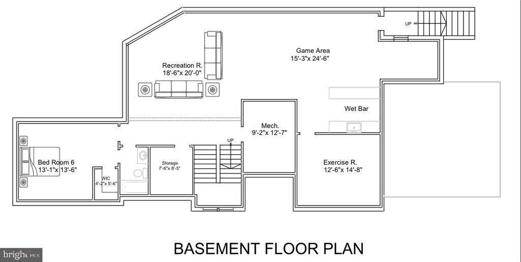 Basement Floor Plan - 713 KINGSLEY RD SW, VIENNA