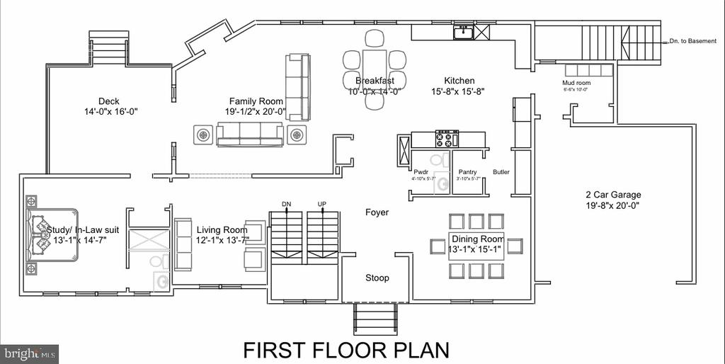 First Floor Plan - 713 KINGSLEY RD SW, VIENNA