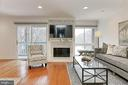 Beautiful wood-burning fireplace w/ tile surround - 2071 WETHERSFIELD CT, RESTON