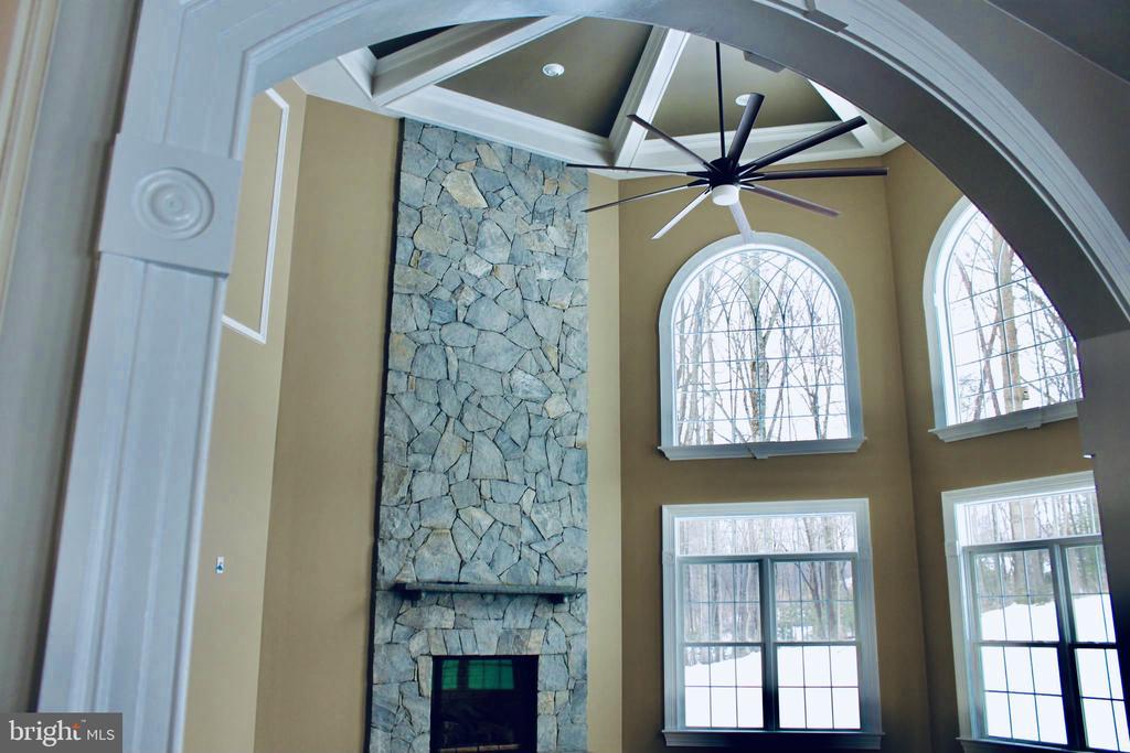 Light Filled Family Room Stone Fireplace. - 10603 VALE RD, OAKTON