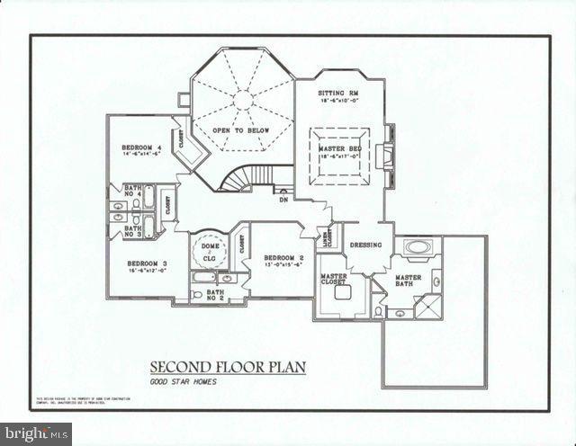Oakwood's Upper Level Floor Plan. - 10603 VALE RD, OAKTON