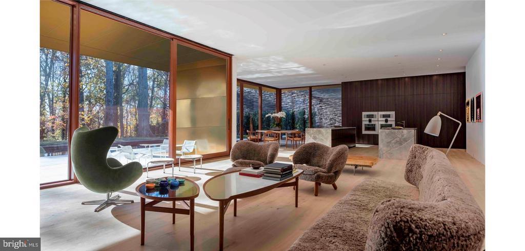 Family Room/Kitchen - Open Floor Plan - 3131 CHAIN BRIDGE RD NW, WASHINGTON