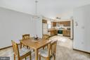 Dining to kitchen - 122 SUNNY WAY, THURMONT