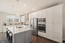 Kitchen with Wall Oven / Microwave Combo - 1614 ROCKY SHALE TER SE, LEESBURG