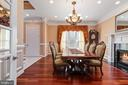 Dining Room with Fireplace - 6500 BRIARCROFT ST, CLIFTON