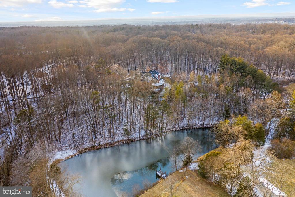 Pond on Property - 6500 BRIARCROFT ST, CLIFTON