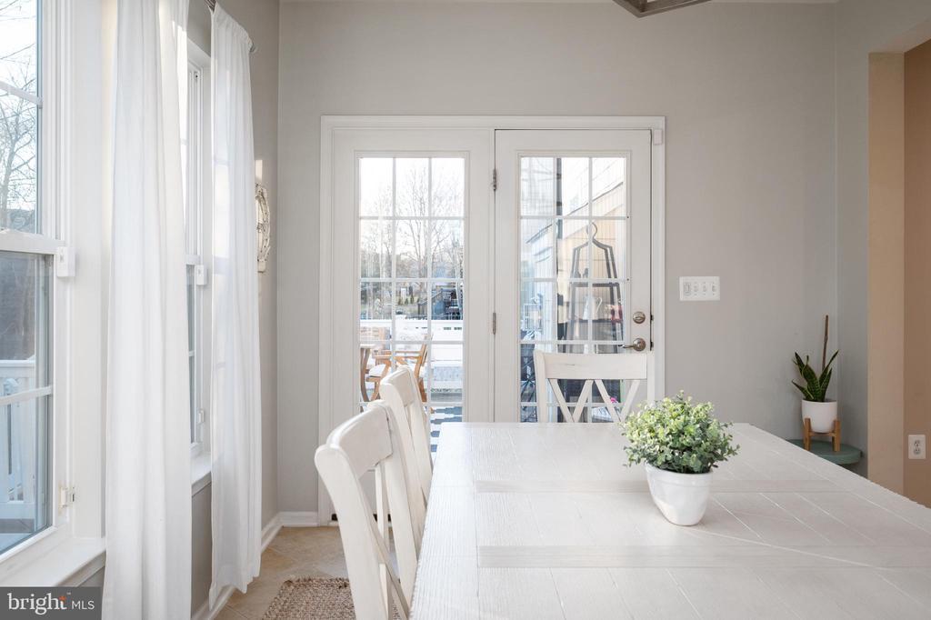 Morning Room with Doors to Deck/Patio - 2140 IDLEWILD BLVD, FREDERICKSBURG