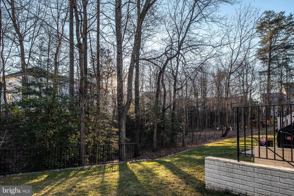 Rear of Home that backs to trees - 2140 IDLEWILD BLVD, FREDERICKSBURG