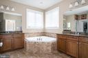 Double vanity in owner's bathroom - 21382 FAIRHUNT DR, ASHBURN