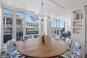Dining area (w/seating for ten) - 801 PENNSYLVANIA AVE NW #1026, WASHINGTON