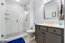 Lower Level Bath with Huge Pup Shower :) - 11217 PRESWICK LN, SPOTSYLVANIA