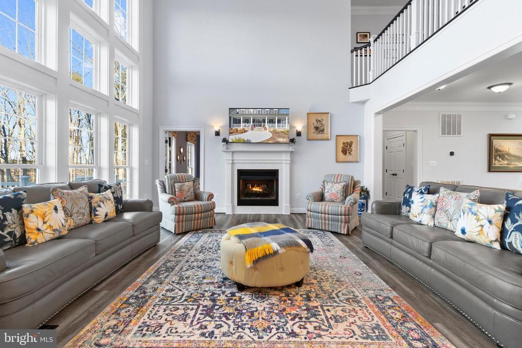 Enormous Two-Story Great Room & Double Fireplace!! - 11217 PRESWICK LN, SPOTSYLVANIA