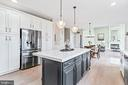 Beautifully renovated kitchen with custom cabinets - 12802 GLENDALE CT, FREDERICKSBURG