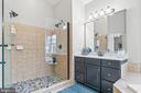 Master bath with frameless shower door - 12802 GLENDALE CT, FREDERICKSBURG