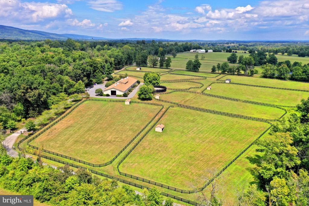 View of Main Barn private paddocks - 21281 BELLE GREY LN, UPPERVILLE