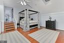 Bedroom #1 in Grooms Quarters above Main Barn - 21281 BELLE GREY LN, UPPERVILLE