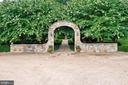 Garden entry off Driveway at Main Residence - 21281 BELLE GREY LN, UPPERVILLE