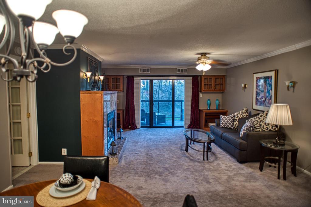 Living Room towards balcony door - 203 YOAKUM PKWY #317, ALEXANDRIA