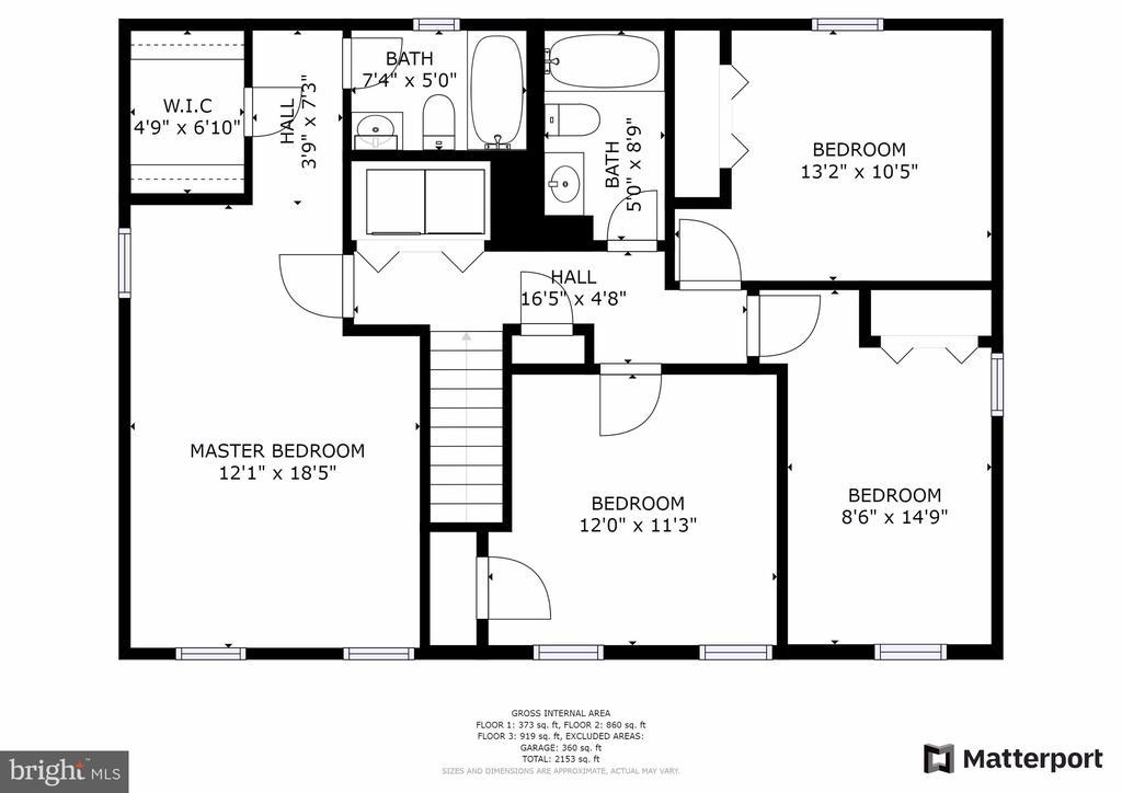 Upper Level Floor Plan - 13509 PHOTO DR, WOODBRIDGE